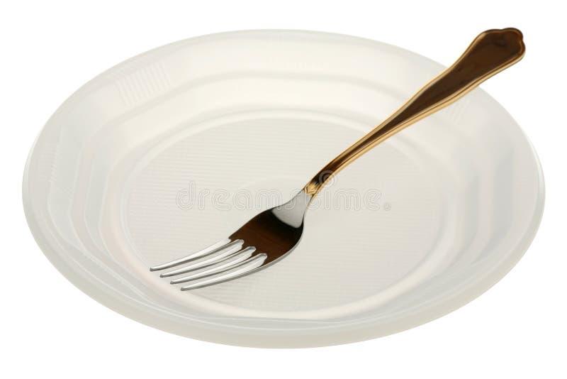 πλαστικό βύσμα πιάτων μετάλ&la στοκ εικόνες με δικαίωμα ελεύθερης χρήσης