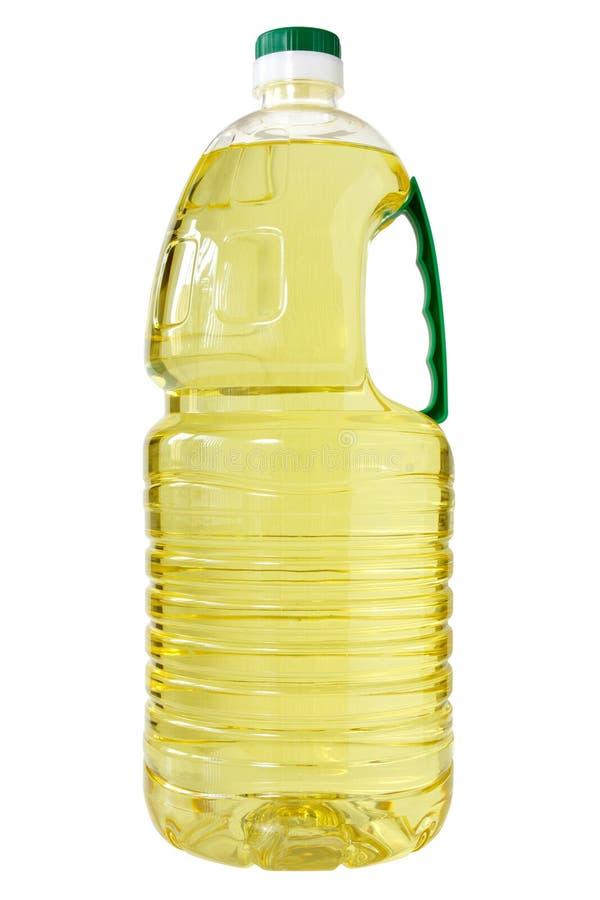 πλαστικό λαδιού μαγειρέματος μπουκαλιών στοκ εικόνες