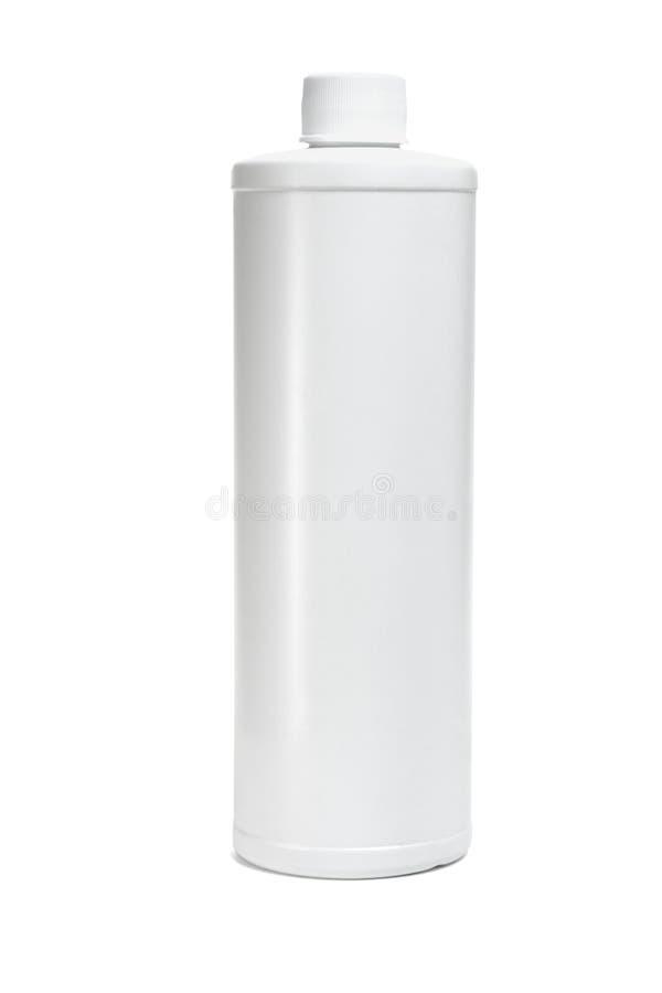 πλαστικό λευκό μπουκαλ& στοκ φωτογραφία με δικαίωμα ελεύθερης χρήσης