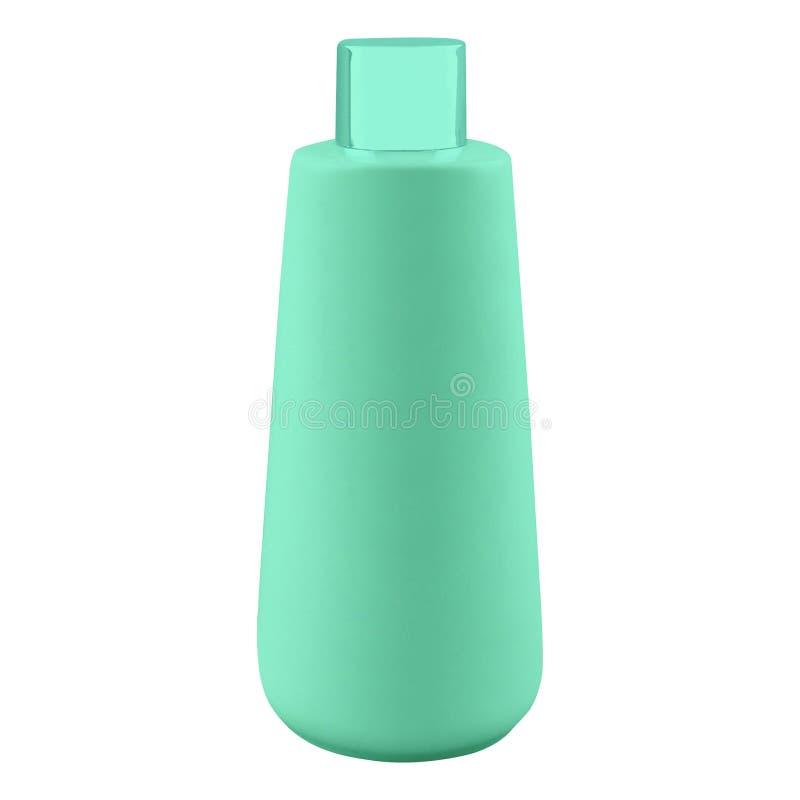 Πλαστικό μπουκάλι σαμπουάν που απομονώνεται στο λευκό στοκ φωτογραφία