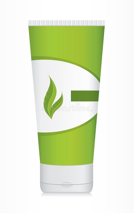 πλαστικό προϊόν μπουκαλιών διανυσματική απεικόνιση