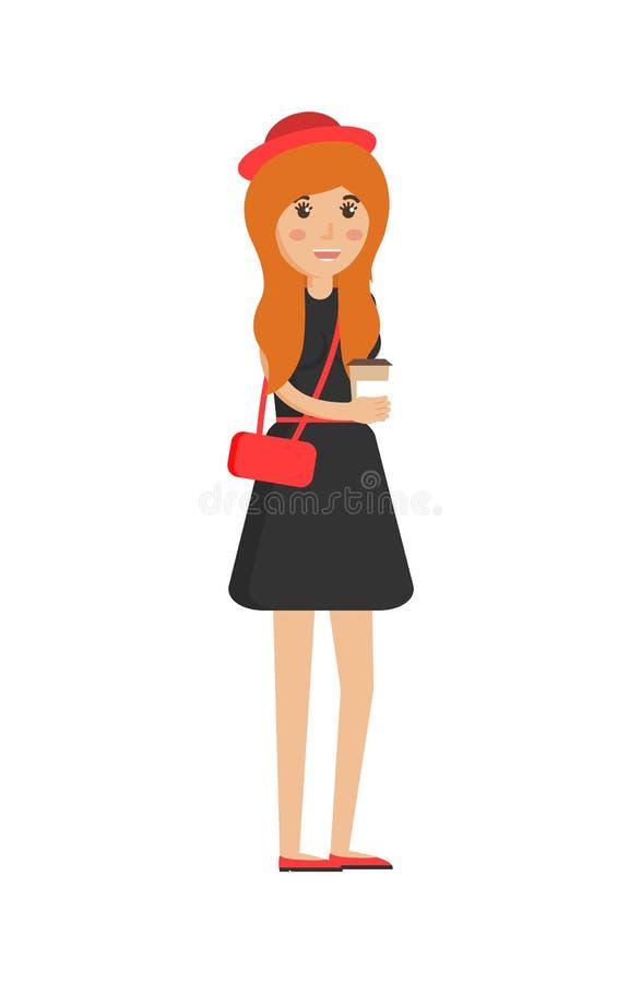 Πλαστικό φλυτζάνι εκμετάλλευσης κοριτσιών, διανυσματική απεικόνιση διανυσματική απεικόνιση