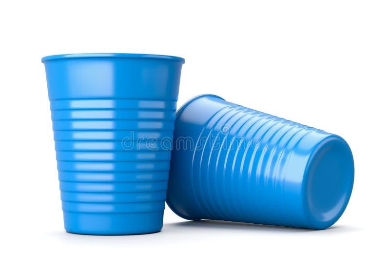 Πλαστικό φλυτζάνι στο λευκό απεικόνιση αποθεμάτων