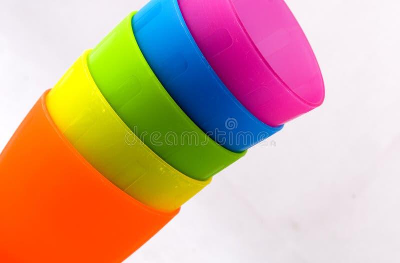 πλαστικό φλυτζανιών στοκ εικόνες