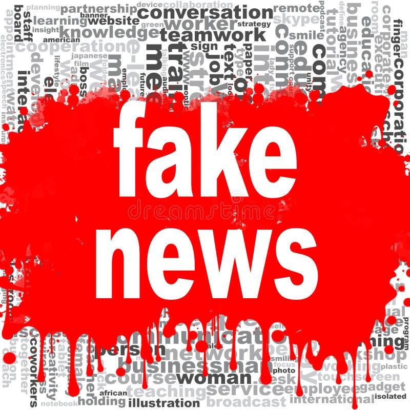 Πλαστό σύννεφο του Word ειδήσεων απεικόνιση αποθεμάτων
