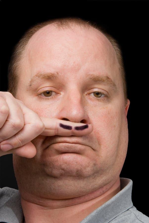 Πλαστό Moustache στοκ εικόνα