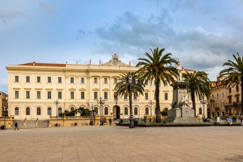 Πλατεία δ ` Ιταλία σε Sassari, Σαρδηνία στοκ φωτογραφία