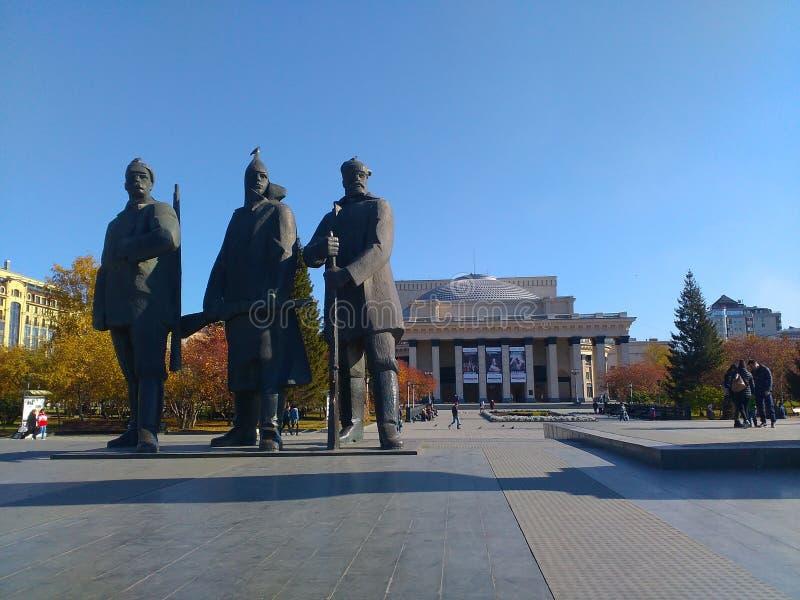 Πλατεία Λένιν ` s στο Novosibirsk στοκ φωτογραφία