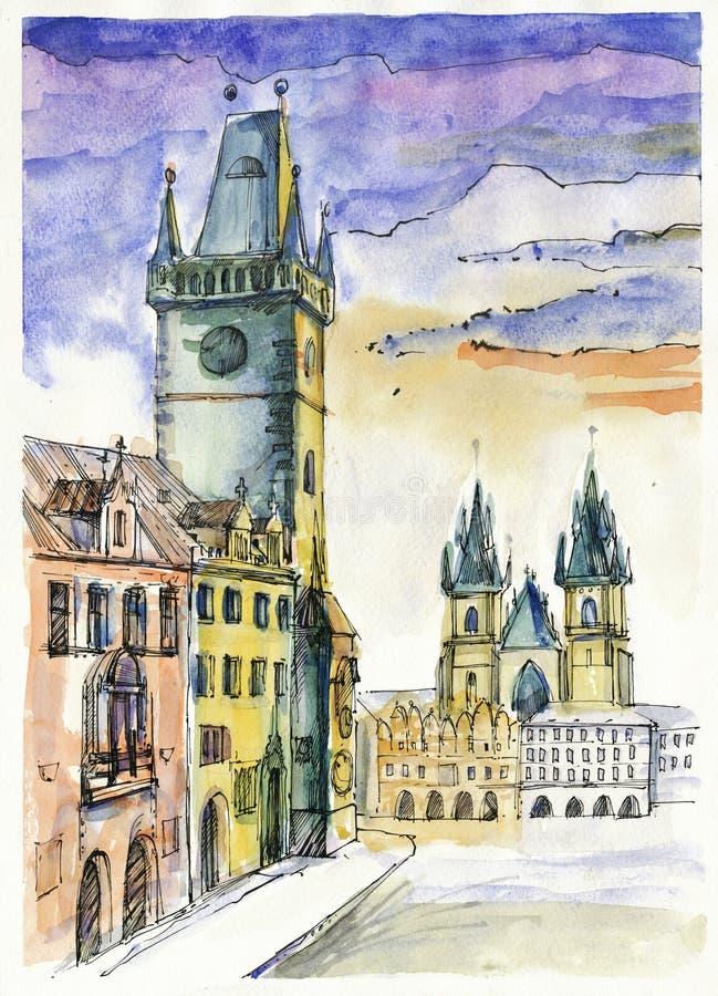 πλατεία της Πράγας s ελεύθερη απεικόνιση δικαιώματος