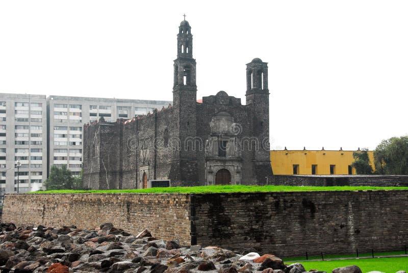 πλατεία τρία του Μεξικού καλλιέργειας πόλεων στοκ εικόνες