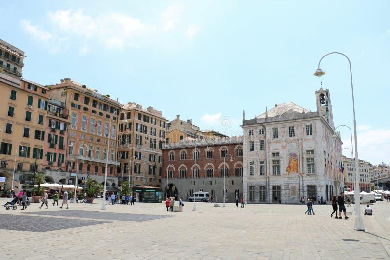 Πλατεία Caricamento στη Γένοβα, Ιταλία στοκ εικόνες