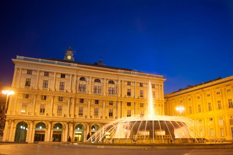 πλατεία de ferrari Γένοβα Ιταλία στοκ φωτογραφίες με δικαίωμα ελεύθερης χρήσης