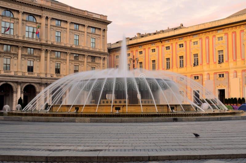 πλατεία de ferrari Γένοβα στοκ φωτογραφία με δικαίωμα ελεύθερης χρήσης