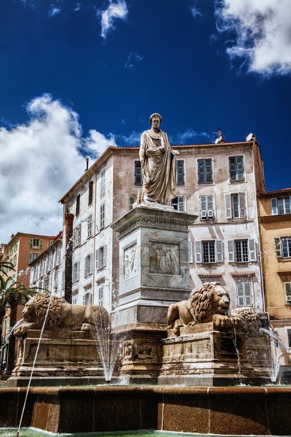 Πλατεία Foch Mareshal στο Ajaccio στοκ φωτογραφίες