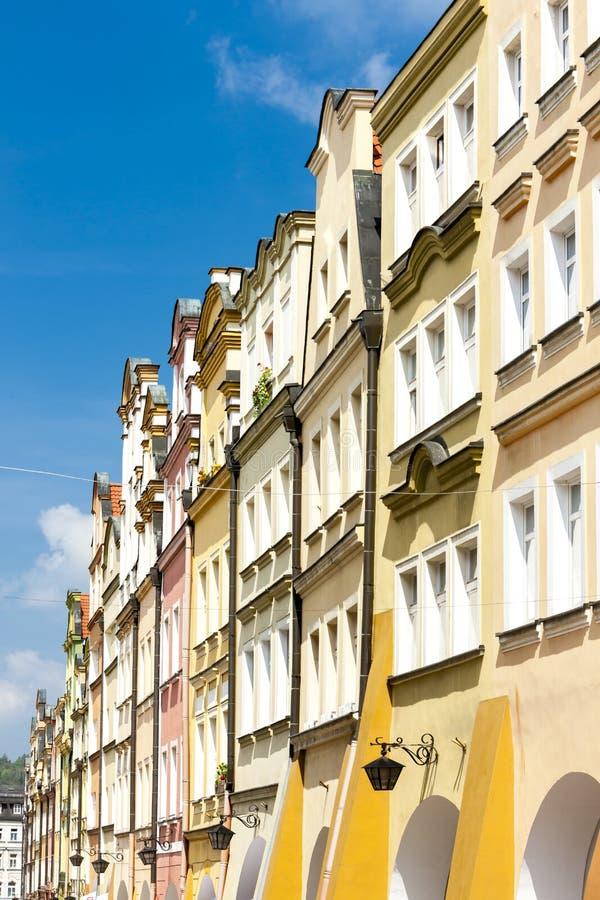 Πλατεία Ratuszowy Plac, Jelenia Gora, Σιλεσία, Πολωνία στοκ εικόνα