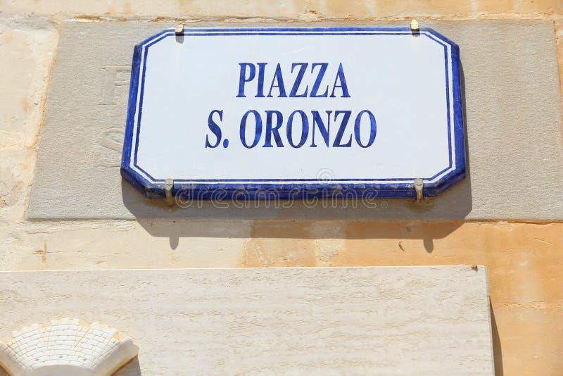 Πλατεία SAN Oronzo στοκ εικόνα με δικαίωμα ελεύθερης χρήσης