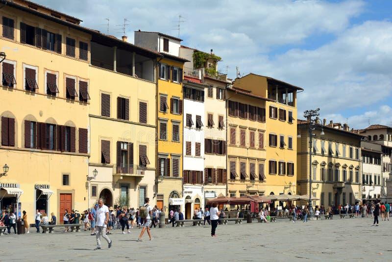 Πλατεία Santa Croce της Φλωρεντίας - της Ιταλίας στοκ εικόνες