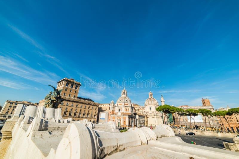 Πλατεία Venezia που βλέπει από το βωμό της πατρικής γης στοκ φωτογραφία με δικαίωμα ελεύθερης χρήσης