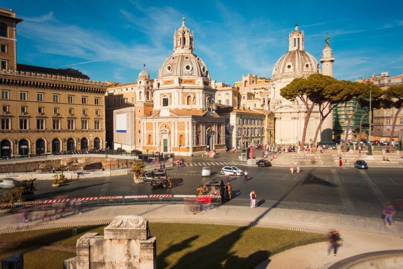Πλατεία Venezia στη Ρώμη στο ηλιοβασίλεμα στοκ εικόνες