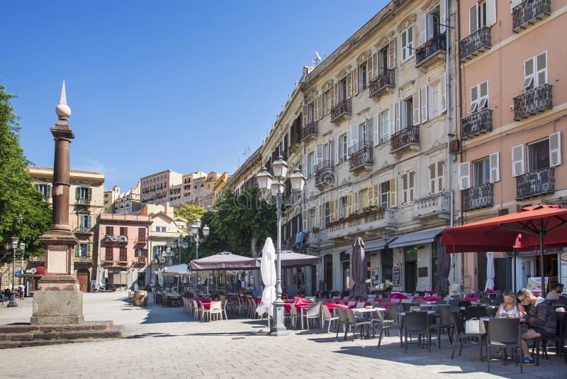 Πλατεία Yenne στο Κάλιαρι, Σαρδηνία, Ιταλία στοκ εικόνα με δικαίωμα ελεύθερης χρήσης