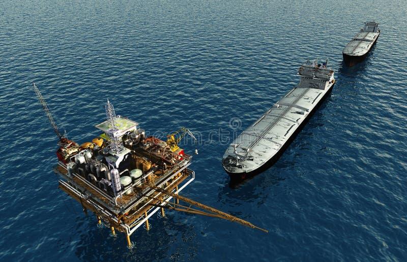Πλατφόρμα άντλησης πετρελαίου ελεύθερη απεικόνιση δικαιώματος
