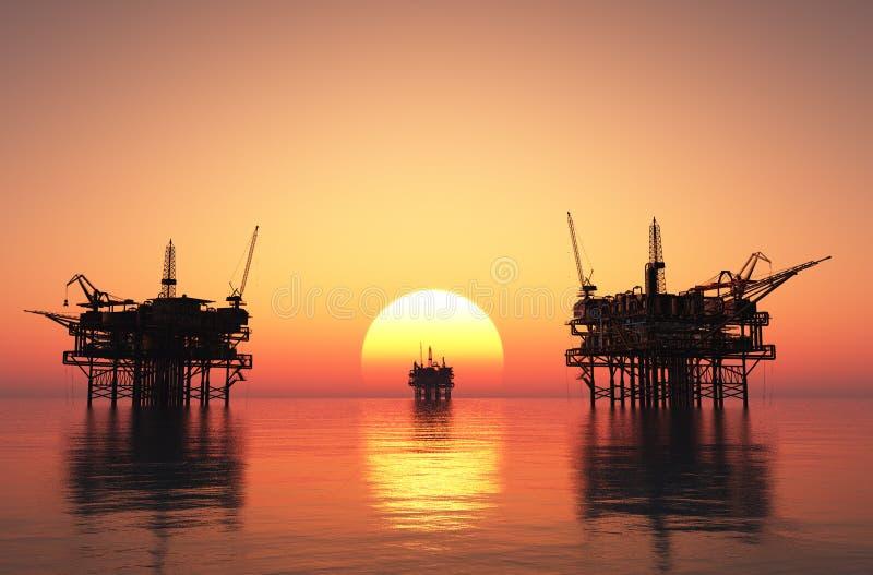 Πλατφόρμα άντλησης πετρελαίου διανυσματική απεικόνιση