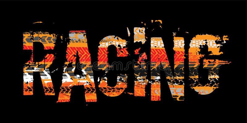 Πλαϊνή εγγραφή moto grunge απεικόνιση αποθεμάτων