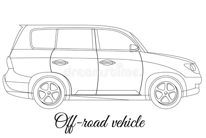 Πλαϊνή περίληψη τύπων σωμάτων αυτοκινήτων οχημάτων ελεύθερη απεικόνιση δικαιώματος
