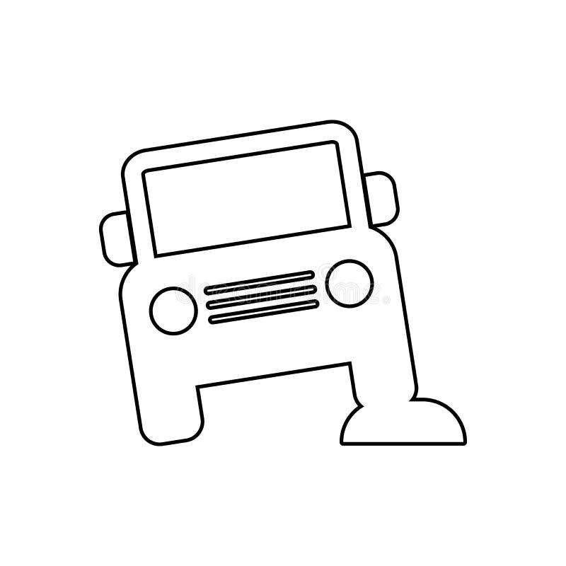 πλαϊνό εικονίδιο αυτοκινήτων Στοιχείο της μεταφοράς για το κινητό εικονίδιο έννοιας και Ιστού apps r απεικόνιση αποθεμάτων