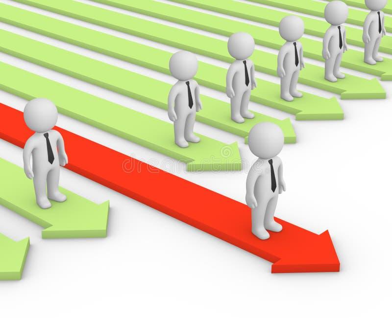 πλεονέκτημα ανταγωνιστικό διανυσματική απεικόνιση