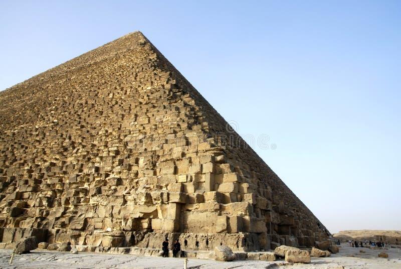 πλευρά πυραμίδων giza της Αιγ στοκ εικόνα με δικαίωμα ελεύθερης χρήσης