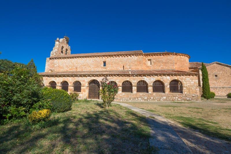 Πλευρά της εκκλησίας στη Σάντα Μαρία de Riaza στοκ εικόνα με δικαίωμα ελεύθερης χρήσης