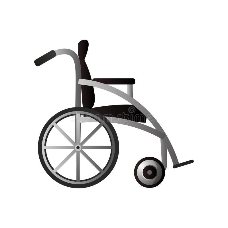 Πλευρά της σύγχρονης αναπηρικής καρέκλας για την ιατρική χρήση νοσοκομείων ή σπιτιών ελεύθερη απεικόνιση δικαιώματος