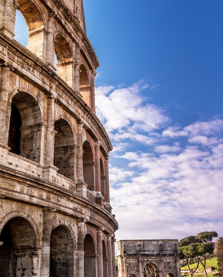 Πλευρά του Colosseum στοκ φωτογραφίες