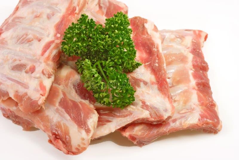 πλευρά χοιρινού κρέατος στοκ εικόνες