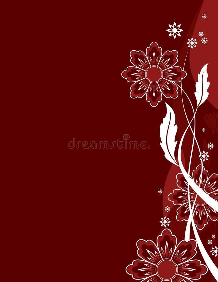 πλευρική ζώνη συχνοτήτων λουλουδιών διανυσματική απεικόνιση