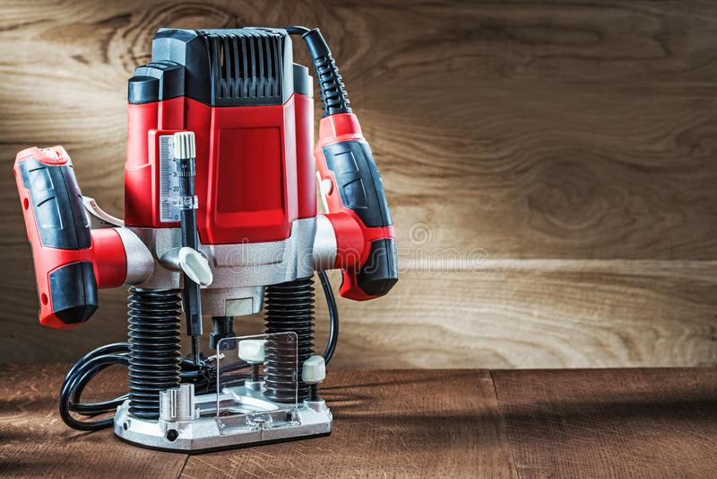 Πλευρική όψη κόκκινη ταχύτητα μεταβλητή ισχύς μικρή μηχανή φρεζαρίσματος ελικοειδούς μηχανήματος, φορητός ηλεκτρικός μίνι δρομολο στοκ εικόνες με δικαίωμα ελεύθερης χρήσης