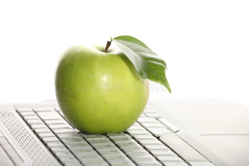 πληκτρολόγιο μήλων στοκ φωτογραφίες