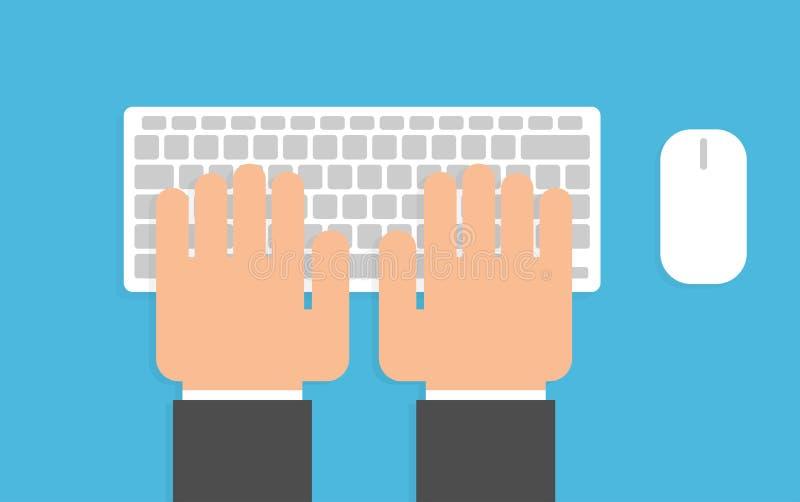 πληκτρολόγιο χεριών ελεύθερη απεικόνιση δικαιώματος