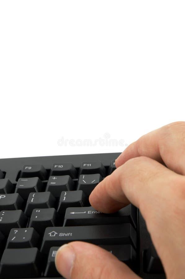 πληκτρολόγιο χεριών Στοκ εικόνα με δικαίωμα ελεύθερης χρήσης