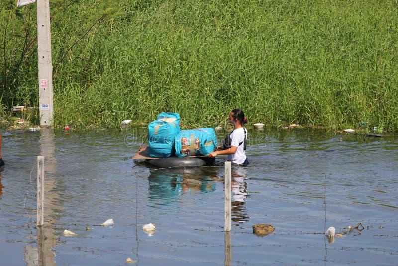πλημμυρίζοντας Ταϊλάνδη στοκ εικόνες με δικαίωμα ελεύθερης χρήσης