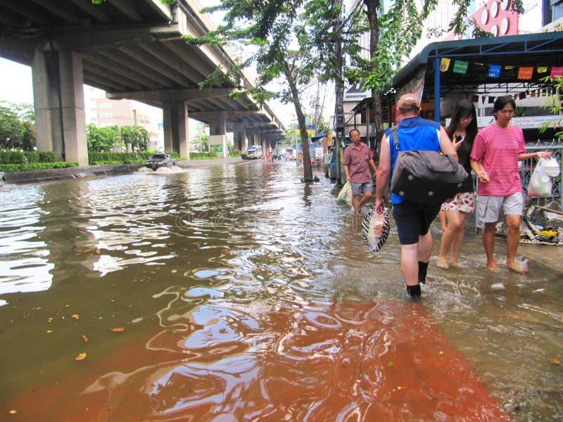 πλημμυρίζοντας Ταϊλάνδη στοκ εικόνες