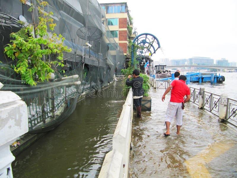 πλημμυρίζοντας Ταϊλάνδη στοκ εικόνα