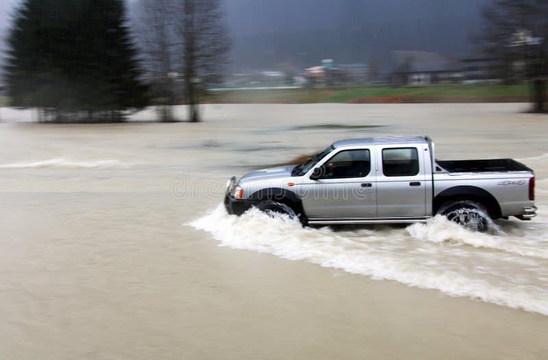 πλημμυρισμένος αυτοκίνη&tau στοκ φωτογραφία