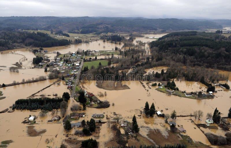 Πλημμύρα πολιτεία της Washington στοκ εικόνες