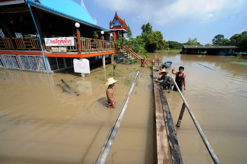 Πλημμύρα στην Ταϊλάνδη στοκ φωτογραφίες με δικαίωμα ελεύθερης χρήσης