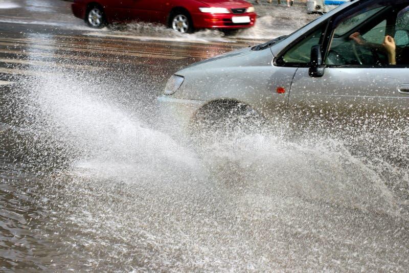 πλημμύρες αυτοκινήτων στοκ εικόνες