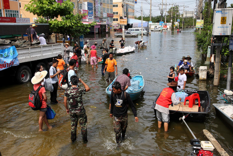 πλημμύρες Ταϊλάνδη στοκ εικόνες με δικαίωμα ελεύθερης χρήσης