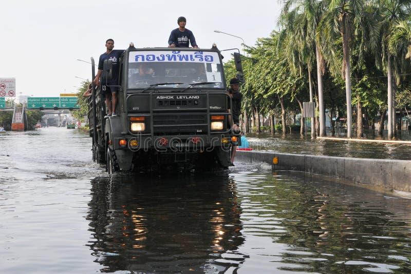 Πλημμύρες της Μπανγκόκ στοκ φωτογραφία με δικαίωμα ελεύθερης χρήσης