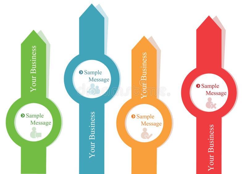 Πληροφορία-γραφικό πρότυπο διανυσματική απεικόνιση